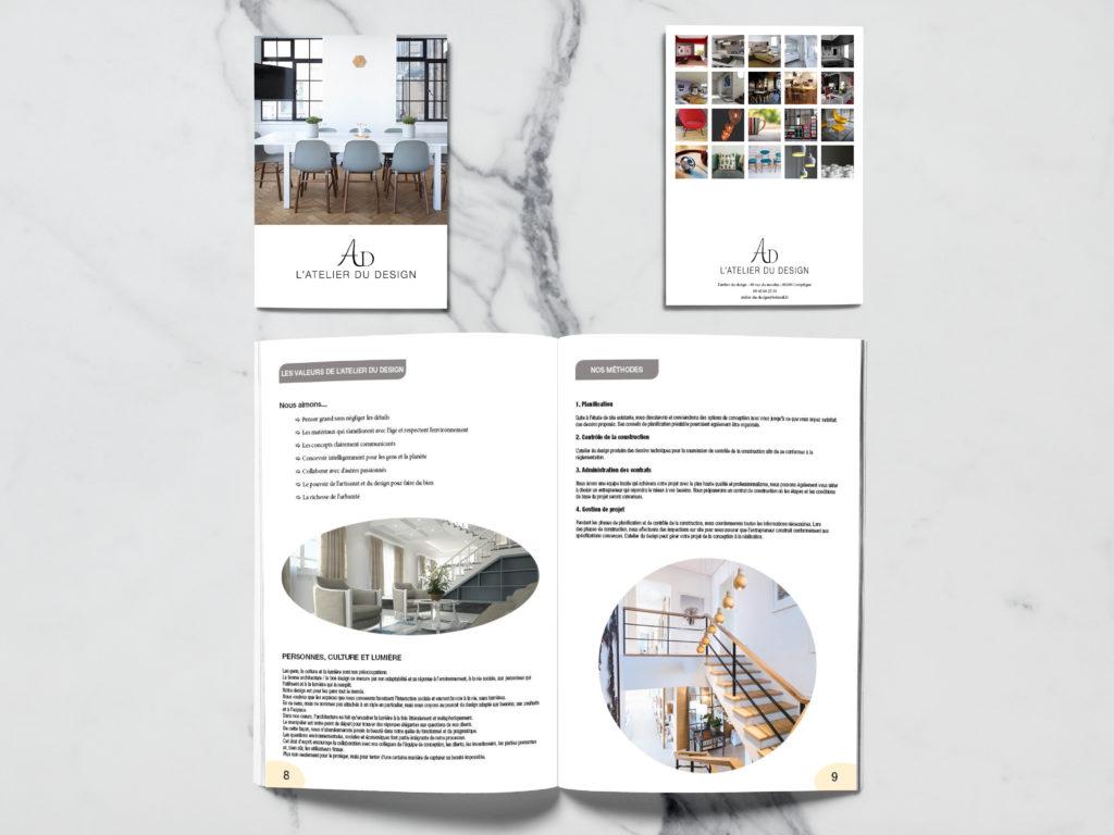 Après le logo, voici le livre de l'atelier du design. Épuré et classe comme l'agence d'architecture.