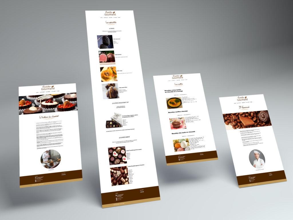 Après le logo, j'ai réalisé la maquette WEB pour le chocolatier JF GOURMAND. j'ai repris les couleurs du logo. Vous pouvez voir le site sur le lien suivant : https://t-ny-graphiste.fr/projet-jfg/