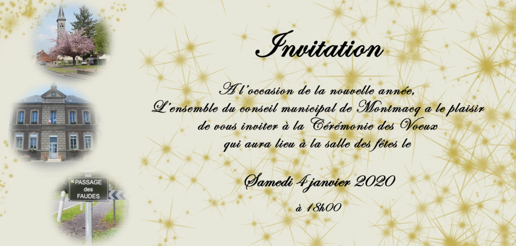 J'ai réalisé une carte de voeux pour l'année 2020 pour la mairie de Montmacq. Une typo manuscrite et un design festive.